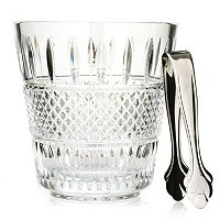 WATERFORD CRYSTAL IRISH LACE ICE BUCKET WITH TONGS