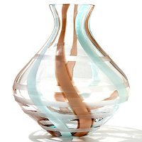 "EVOL;UTION BY WATERFORD ESPRESSO SWIRL 9"" VASE"