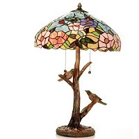A DAY AT OYSTER BAY TIFFANY STYLE TABLE LAMP