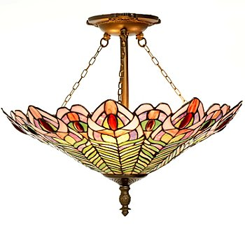 431-932 - Tiffany-Style 16'' Montauk Revelry Stained Glass Pendant Lamp