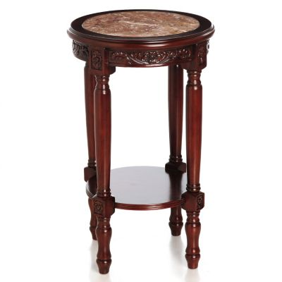 "431-970 - Style at Home with Margie 28"" Bryant Hand-Carved Marble Top Table"