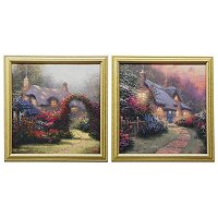 "THOMAS KINKADE"" GLORY COLLECTION"" FRAMED TEXTURED PRINT"