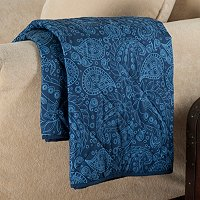 "Cozelle Reversible Microfiber Down Alternative 50"" x 60"" Throw"