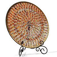 "FAVRILE 17.75"" HAND-BLOWN ART GLASS CHARGER"