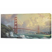 "THOMAS KINKADE "" GOLDEN GATE BRIDGE"" PANORAMIC GALLERY WRAP"