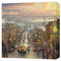 "THOMAS KINKADE ""HEART OF SAN FRANCISCO"" 20X20 GALLERY WRAP"