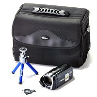 VIXIA HF R30 8GB Memory Camcorder, Carrying Case, Mini Blue Tripod and 16GB SD