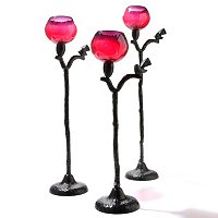 STYLE AT HOME SET OF 3 SPARROW CANDLE HOLDERS