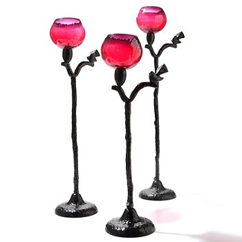 432-051 - Sparrow Set of Three Candle Holders