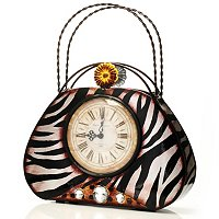 ZEBRINA PURSE CLOCK