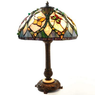 "432-197 - Tiffany-Style 24.75"" The Ophelia Stained Glass Table Lamp"