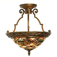 THE NEWPORT TIFFANY STYLE CEILING LAMP