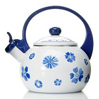 FARMHOUSE TOUCH BLUE TEA KETTLE