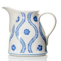 FARMHOUSE TOUCH BLUE FLOWERS GRAVY BOAT