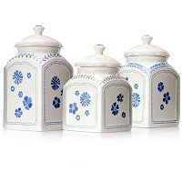 FARMHOUSE TOUCH SET OF THREE CANISTERS