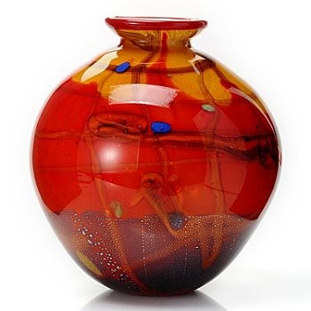 432-369 - Favrile 11'' Hand-Blown Art Glass Vase
