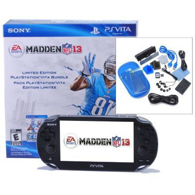 432-499 - PlayStation® Vita Portable Gaming System w/  Madden NFL 13 Game & Accessories