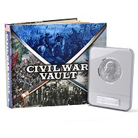 2011 5OZ AMERICA THE BEAUTIFUL VICKSBURG NGC MS69 AND CIVIL WAR BOOK