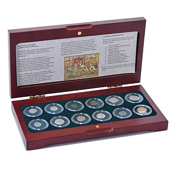 432-510 - 8th-16th Century Silver 12-Piece Medieval World Coin Collection