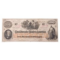 1862 $100 CONFEDERATE COTTON NOTE