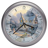 "THOMAS KINKADE ""NIGHT BEFORE CHRISTMAS"" CLOCK"