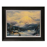 "THOMAS KINKADE ""WARMTH OF HOME"" 12X16 TEXTURED PRINT"