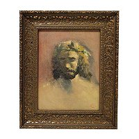 "THOMAS KINKADE "" PRINCE OF PEACE"" 11X14 FRAMED TEXTURED PRINT"