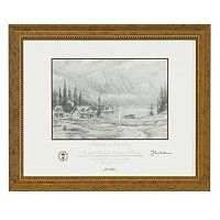 "THOMAS KINKADE ""BEGINNING OF A PERFECT DAY"" ARTIST SKETCH"