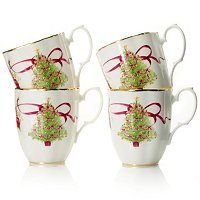 ROYAL ALBERT OLD COUNTRY ROSES HOLIDAY MUGS