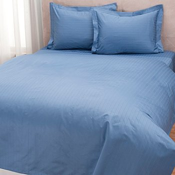 432-559 - North Shore Linens™ 1000TC Egyptian Cotton Striped SureSoft™ 3-Piece Duvet Set