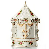 ROYAL ALBERT OLD COUNTRY ROSES MUSICAL CAROUSEL - SIGNED MD