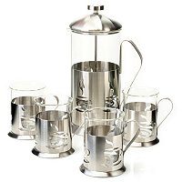 BergHOFF 5 Piece French Press Coffee Set