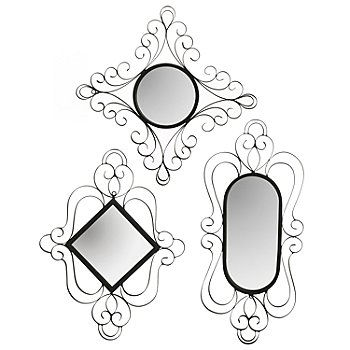 432-959 - Style at Home with Margie Brookston Three-Piece Wall Mirror Set