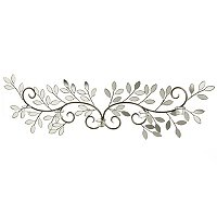 Winged Leaves Wall D_cor w/Candle Holders
