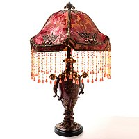 O'Shee Beaded Victorian Table Lamp