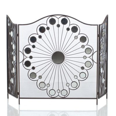"432-969 - Style at Home with Margie 47.75"" Rovelle Fireplace Screen"