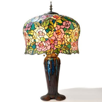 "432-987 - Tiffany-Style 32.3"" Bernadine Stained Glass Table Lamp"
