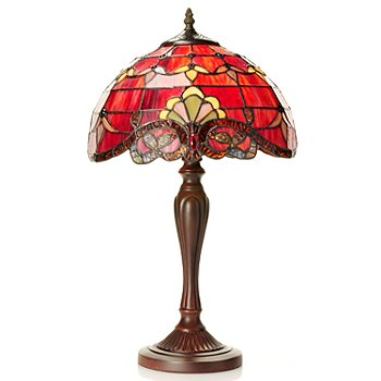433-110 - Tiffany-Style 20.5'' Allistar Stained Glass Table Lamp