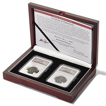 433-160 - El Cazador 1732-1783 Two-Piece Pillar & Bust Coin Set