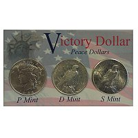 1922-1935 PEACE DOLLAR BU P,D AND S SET