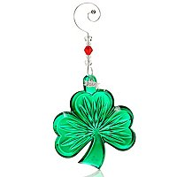 WATERFORD CRYSTAL 2012 ANNUAL GREEN SHAMROCK ORNAMENT