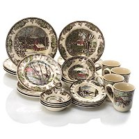 JOHNSON BROTHERS FRIENDLY VILLAGE 28 PIECE DINNERWARE SET