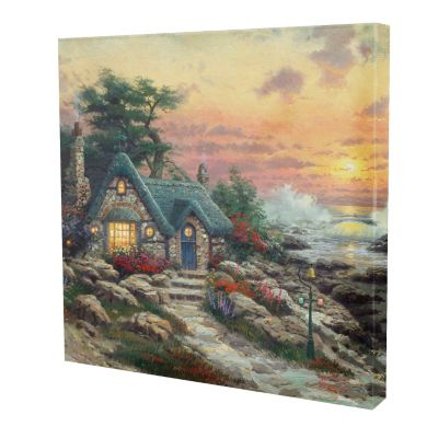 "433-297 - Thomas Kinkade Cottage by the Sea"" 20"" x 20"" Gallery Wrap"