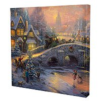 "THOMAS KINKADE ""SPIRIT OF CHRISTMAS"" GALLERY WRAP"
