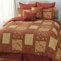 """Chapel Hill"" Microfiber Eight-Piece Comforter Set"