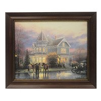 "THOMAS KINKADE ""CHRISTMAS MEMORIES"" FRAMED TEXTURED PRINT"