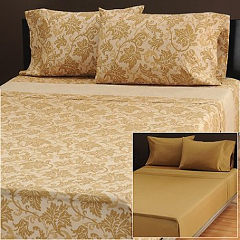 433-707 - North Shore Linens™ Set of Two 600TC Egyptian Cotton SureSoft™ Four-Piece Sheet Sets
