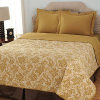 North Shore Linens 600TC Reversible Three-Piece Coverlet Set