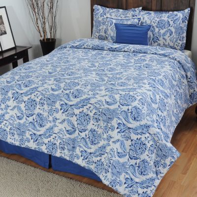 "433-712 - North Shore Linens™ 200TC ""Indigo"" Cotton Six-Piece Comforter Set"