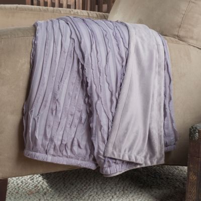 "433-770 - North Shore Linens™ Ruffle 60"" x 50"" Throw"